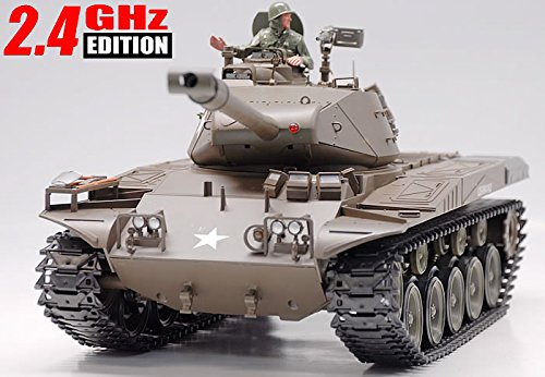 2.4Ghz 1/16 Scale Radio Control 1/16 U.S M41A3 Walker Bulldog Air Soft RC Battle Tank w/Smoke & Sound RTR