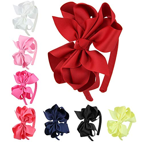 7Rainbows Girls Colorful Bows Headbands for girls.]()