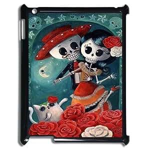 Diy Colorful Sugar Skull Phone Case for iPad 2 3 4 Black Shell Phone JFLIFE(TM) [Pattern-1]