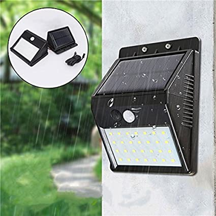 MASUNN 28 Led Luces Solares Pir Sensor De Movimiento Impermeable Luz De Pared Separable Proyector Exterior
