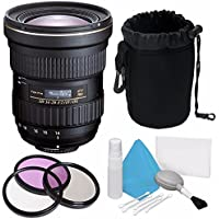Tokina AT-X 14-20mm f/2 PRO DX Lens for Canon EF (International Model) No Warranty + Deluxe Cleaning Kit + 82mm 3 Piece Filter Kit + Deluxe Lens Pouch Bundle 6