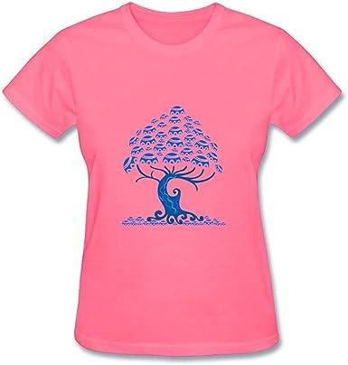 Jo supera Árbol de Vida de la mujer cuello redondo camiseta de ...