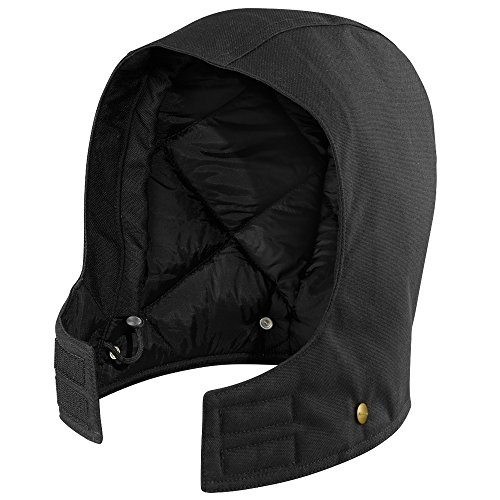 Carhartt Men's Arctic Quilt Lined Duck Hood, Black, 2XL-5XL