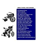 2019 New Electric Wheelchair Foldable Power Wheelchairs FDA Registered Device Long Range Battery Gets Up to 13+ Miles