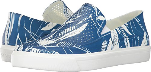 Crocs Men's Citilane Roka Tropical Slip-On Fashion Sneaker, Blue Jean/White, 10 M - Roka Blue