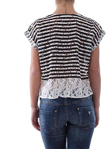 GUESS SHIRT DAMEN T-SHIRT W61P20 K4E90 SCHWARZ BEIGE BLACK BEIGE WOMEN