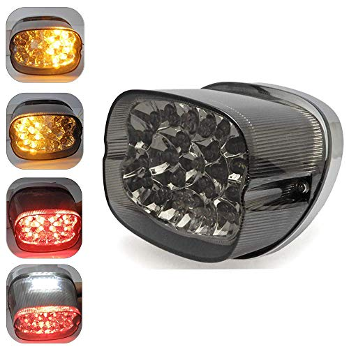 Smoke LED Tail Light Turn Signals for Sportster 883 Electra Glides Road Glides Dyna Nightster Street Bob Brake Park License Plate Light ()