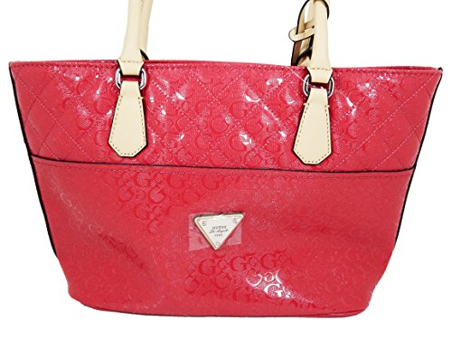 Guess Women's Purse Handbag Warm Wishes Tote (SCARLET/CREAM)