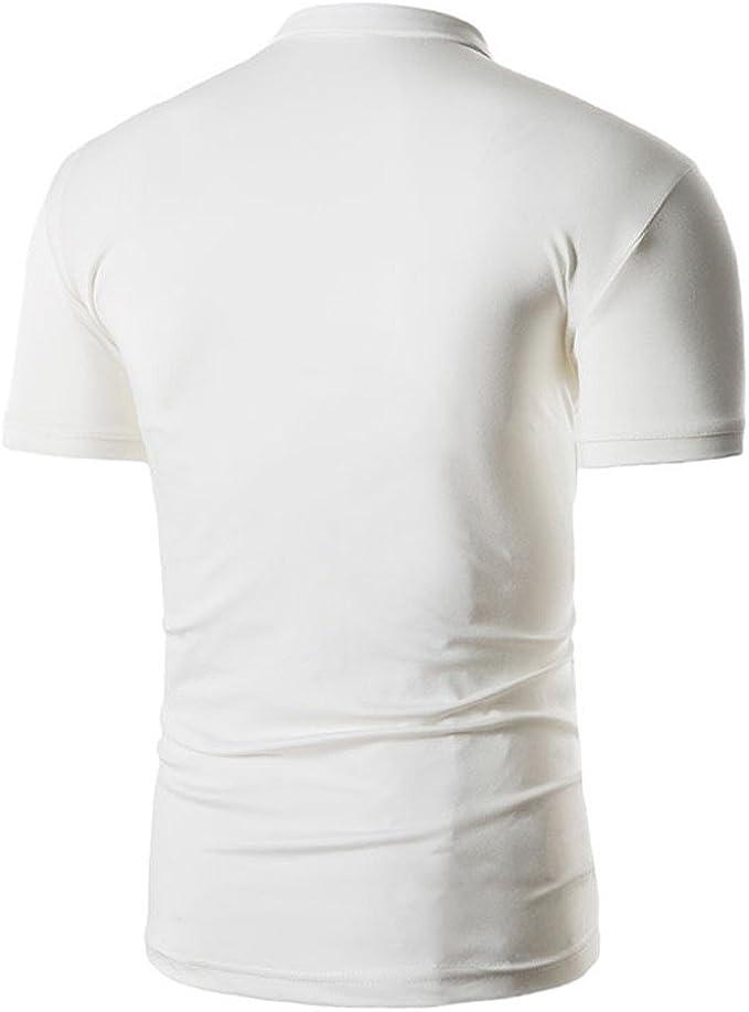 SALLYDREAM Polos Caballero Camiseta de Manga Corta a Rayas de ...