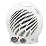 Vie Air Portable 2-Settings Fan Heater with Adjustable Thermostat, 1500W, White
