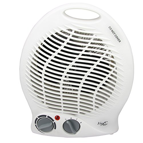 Vie Air 1500W Portable 2-Settings White Home Fan Heater with Adjustable Thermostat by Vie Air
