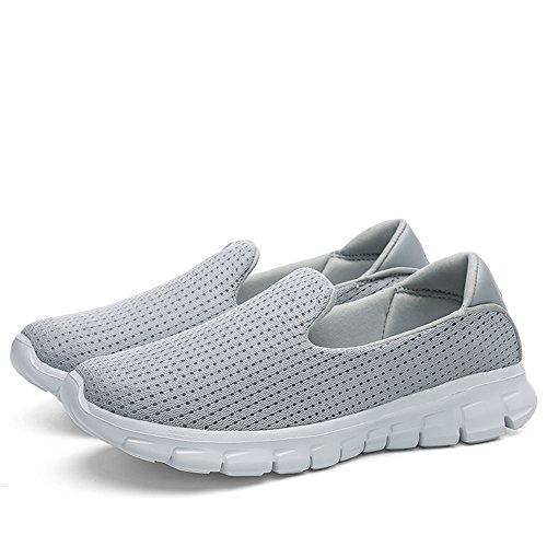 Scarpe JACKSHIBO Go Slip On Walk Donna Ginnastica Sneaker Grigio2 da Leggero Basse 0qWn0aC