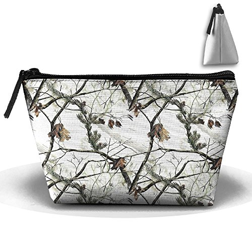 Portable Travel White Realtree Camo Storage Pouch Cosmetic Toiletry Bags Organizer Travel Accessories -