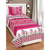 BOSCH FAB 140 TC Polycotton Single Bedsheet with Pillow Cover(1+1)