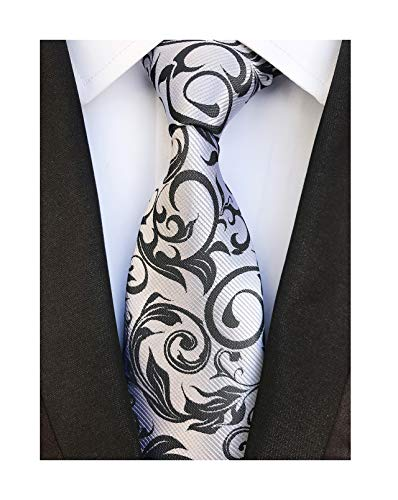 - Silver Black Navy Young Woven Silk Tie Fashion Gentleman Dress Nice Boys Necktie