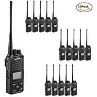 Samcom FPCN10A Walkie Talkie 20 Channel Wireless Intercom with Group Button two way radio,UHF 400-470MHz with 2.5 Miles Range (Pack of 16)