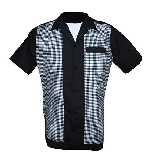 1950s 1960s Rockabilly Bowling Retro Vintage Men S Shirt