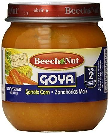 Haya Nuez Etapa 2 Goya Pote, Zanahorias maíz, 4 onzas (paquete de 10