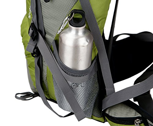 WTUS Hombre y Mujer Mochila Bolsos Al aire libre Viaje de Nylon de Excursión Impermeable y Montañismo Excursionism Senderismo bolsos Verde