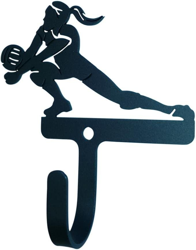 3.75 Inch Volleyball Woman/Girl Wall Hook Small