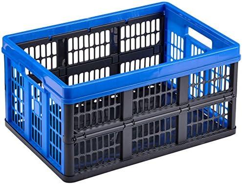 Heidrun 800021-3 - Juego de Cajas de plástico Plegables (3 Unidades, 53,5 x 35,5 x 27 cm): Amazon.es: Hogar