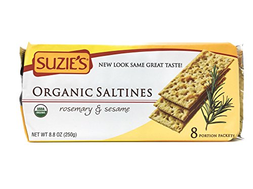 Crackers, Rosemary Sesame, 8.8-Ounce Packages (Pack of 12) (Suzies Flatbread)