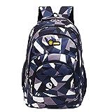YJYdada Backpack, Backpack Teenage Girls Boys School Backpack Camouflage Printing Students Bags (Dark Blue)