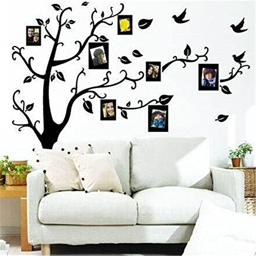 E-dance Family Tree Photo Frames Removable Wall Stickers Home Decals