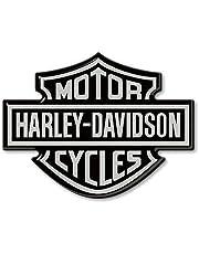 3D Resin Stickers Emblem Logo voor Motorcycle Tank compatibel met HARLEY DAVIDSON 95x70 Silver