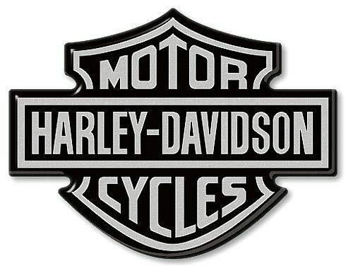 3D Resin Stickers Emblem Logo voor Motorcycle Tank compatibel met HARLEY DAVIDSON 95×70 Silver