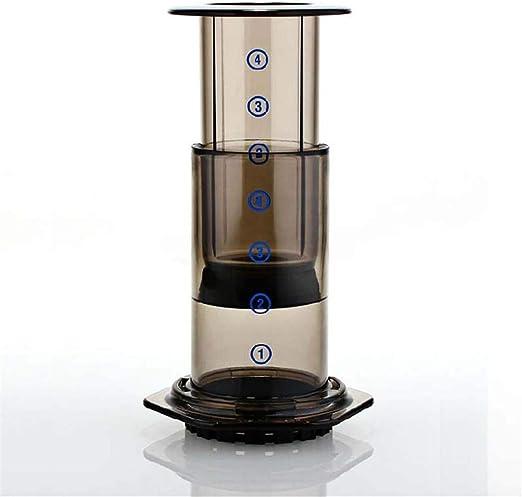 Cafetera portátil Cafetera manual a presión Cafetera manual Enviar 350 piezas de papel de filtro de café: Amazon.es: Hogar