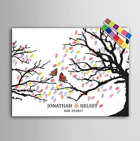 personalised wedding guest book alternative wishing tree