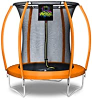 Moxie™ Pumpkin-Shaped Outdoor Trampoline Set with Premium Top-Ring Frame Safety Enclosure