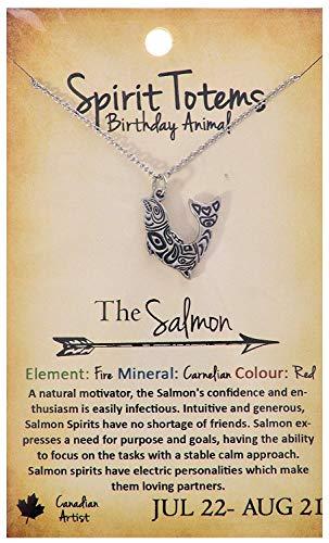 Shag Wear Spirit Totems Birthday Animal Pendant Necklace (Salmon Pendant)