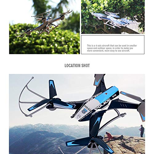 MOZATE A9 2.4G 4CH 6-Axis Gyro Remote Control 3D Flip Roll Drone (Black) by MOZATE (Image #4)