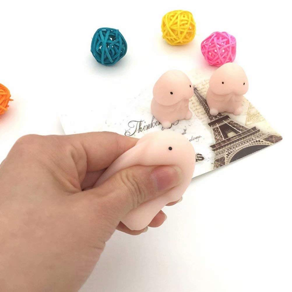 XHSP 12 Pcs Novelty Squishy Toy Mini Squeeze Ball Slow Rising Anti Stress Dolls Tricky Gifts Stress Relief Toy for Kids Adults