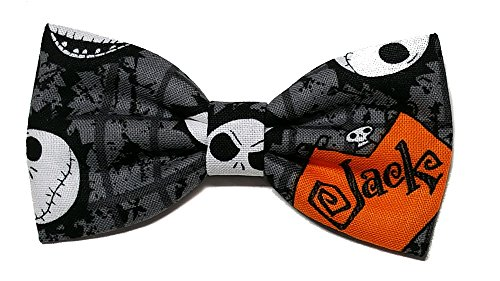 EmilyRose Couture Mini Halloween Hair Bow Collection (Small Headband (Newborn to 6 Months), Jack Skellington)