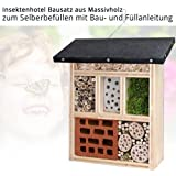 made2trade Robustes Insektenhotel Insektenhaus aus Naturholz 13x8.5x26cm