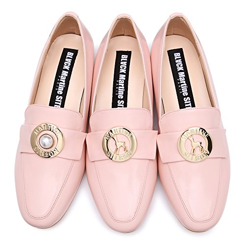Noir Martine Sitbon Femme Trinity Solitaire Mocassin Gaxh114 Rose