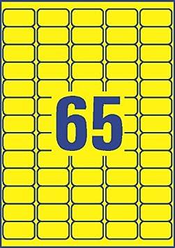 A4, 1.300 St/ück, abl/ösbar, 38 x 21,2 mm, 20 Blatt AVERY Zweckform L4791-20 Farbige Etiketten blau
