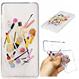 Qiaogle Phone Case - Soft TPU Silicone Case Cover Back Skin for Xiaomi HongMi Note / Redmi Note (5.5 inch) - HC10 / Lip gloss + eyebrow pencil