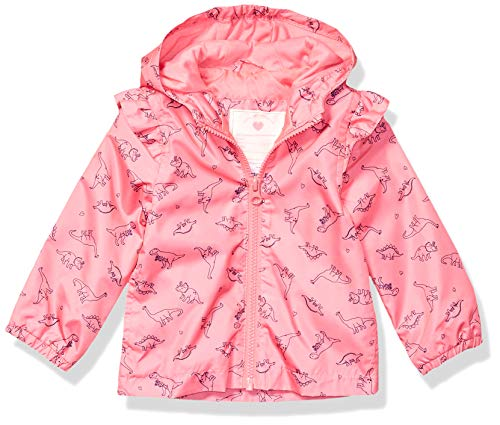Carter's Baby Girls Lightweight Windbreaker, Dinosaurs On Pink, 12 Months
