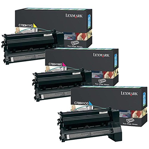 Lexmark C780H1CG, C780H1MG, C780H1YG High Yield Toner Cartridge Set Colors Only (CMY) -