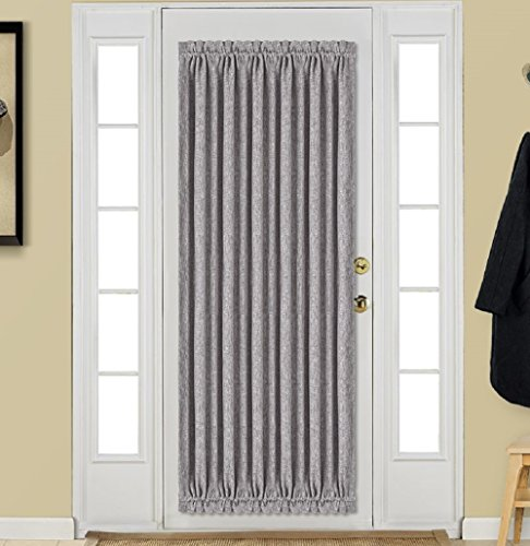 Best Dreamcity Insulated Thermal Rod Pocket Faux Linen Blackout Curtains / Drapes with Bonus Tieback for French Door, Single Panel, W52