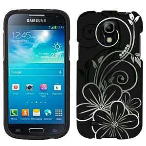 Samsung Galaxy S4 Mini Black White Flower on Black Phone Case Cover