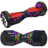 MightySkins Protective Vinyl Skin Decal for Self Balancing Board Scooter Hover 2 Wheel Mini Board Unicycle Bluetooth wrap Cover Sticker Drips