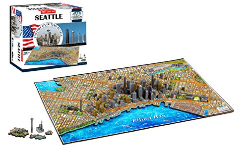 4D Cityscape Seattle Time Puzzle (1100+ Pieces) ()