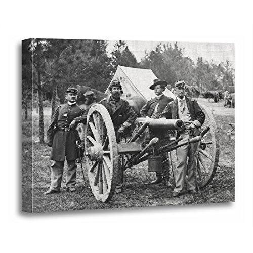 TORASS Canvas Wall Art Print Vintage Civil War Artillery Group Pictures Artwork for Home Decor 16