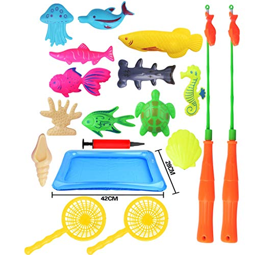 Ktyssp for Kids Bathtime Pool Party Plastic Floating Fish Magnetic Fishing Toys Game Kid Favorite