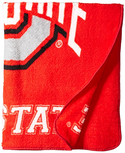 (The Northwest Company Officially Licensed NCAA Ohio State Buckeyes Jersey Sherpa on Sherpa Throw Blanket, 50